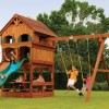 Design 1 Swingset with Playhouse Panels Play System