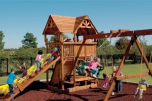 swing set with deck austin