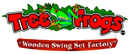 Tree Frogs Kid Structures Wooden Swing Set Logo Pic