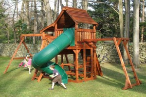 maverick half shack wooden swing set pic